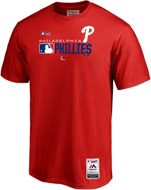 2b1ebe8746d601 Majestic Men's Philadelphia Phillies Authentic Collection T-Shirt ...