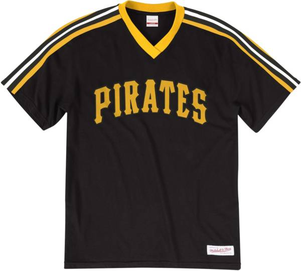 Mitchell & Ness Big and Tall Men's Pittsburgh Pirates Black V-Neck T-Shirt product image