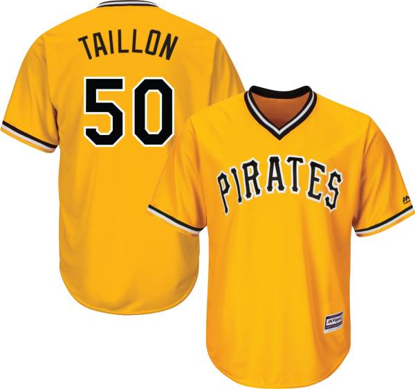 Majestic Men's Replica Pittsburgh Pirates Jameson Taillon #50 Cool Base Alternate Gold Jersey product image