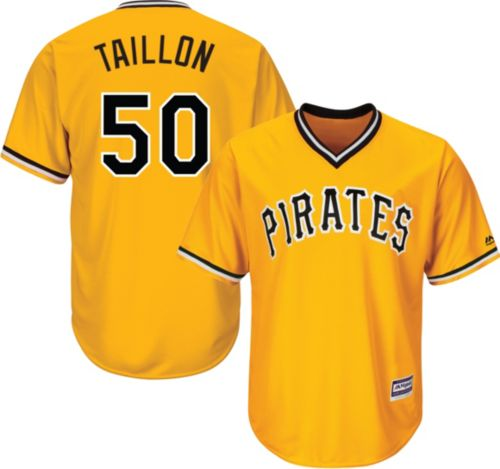 aa484dbffcf Majestic Men s Replica Pittsburgh Pirates Jameson Taillon  50 Cool Base  Alternate Gold Jersey. noImageFound. Previous