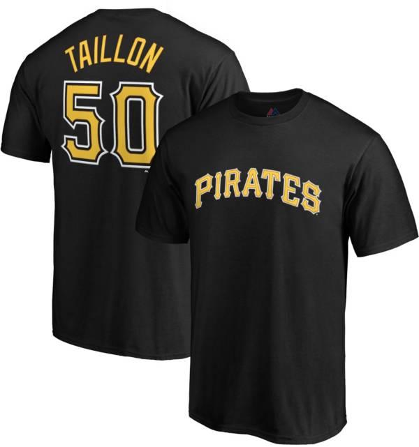 Majestic Men's Pittsburgh Pirates Jameson Taillon #50 Black T-Shirt product image