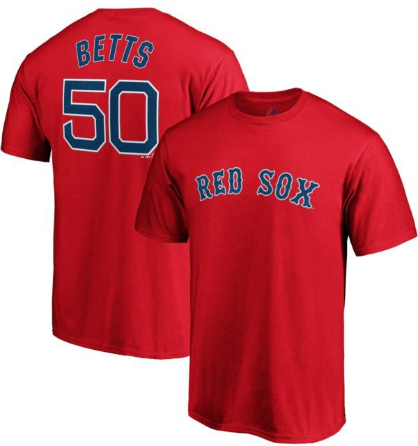 Majestic Men's Boston Red Sox Mookie Betts #50 Red T-Shirt product image