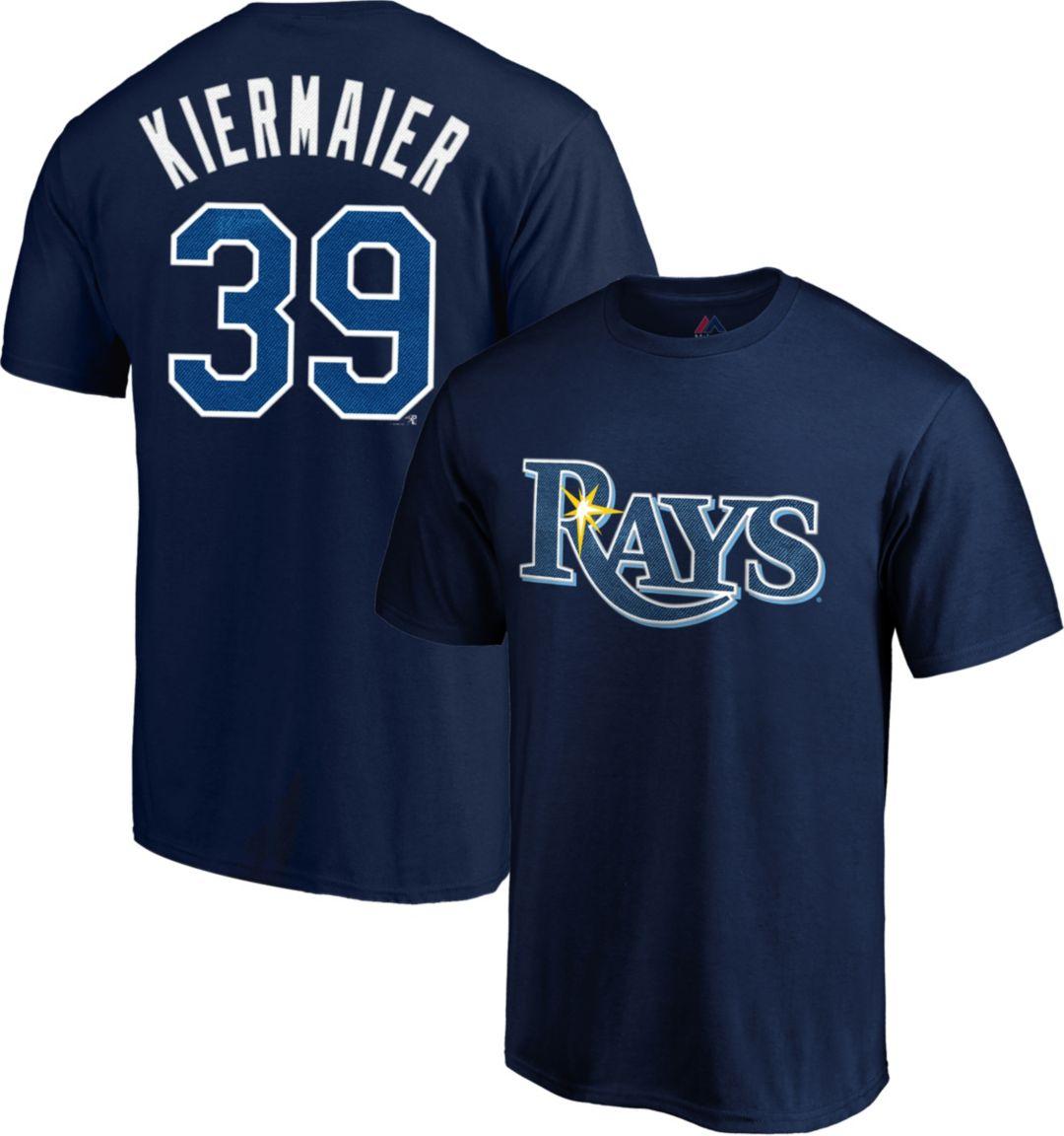 timeless design fcb4d ca13c Majestic Men's Tampa Bay Rays Kevin Kiermaier #36 Navy T-Shirt