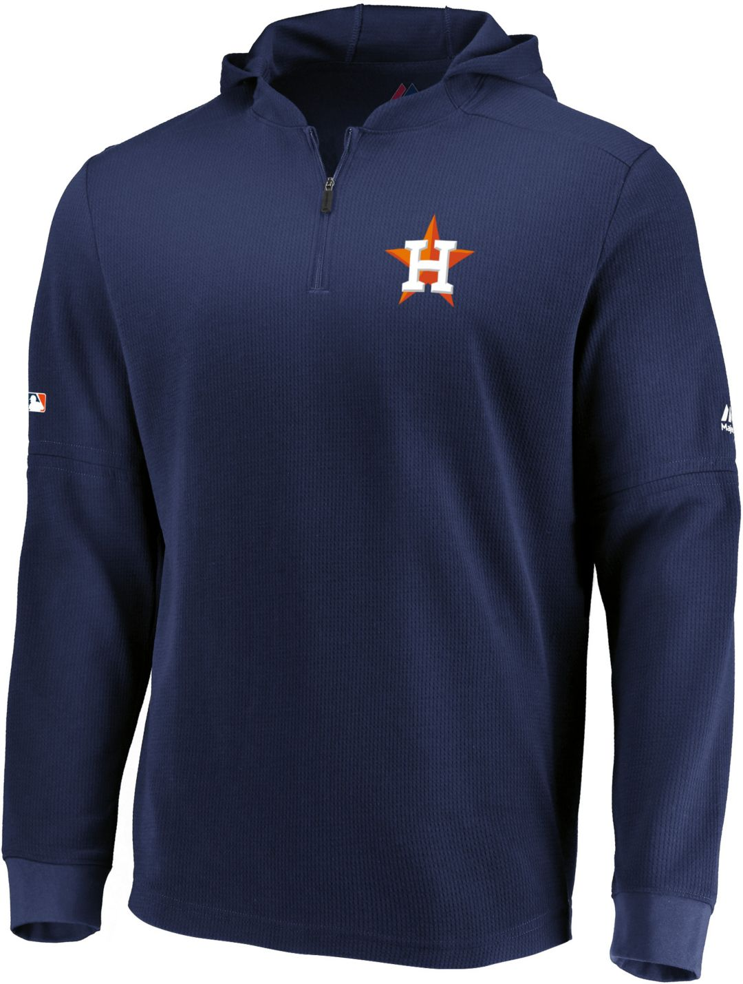 competitive price a8e2a 8c34b Majestic Men's Houston Astros Authentic Collection Batting Practice Waffle  Hooded Pullover