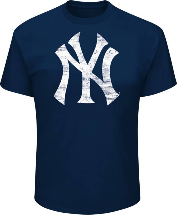 Majestic Big and Tall Men's New York Yankees Navy Tri-blend T-Shirt product image