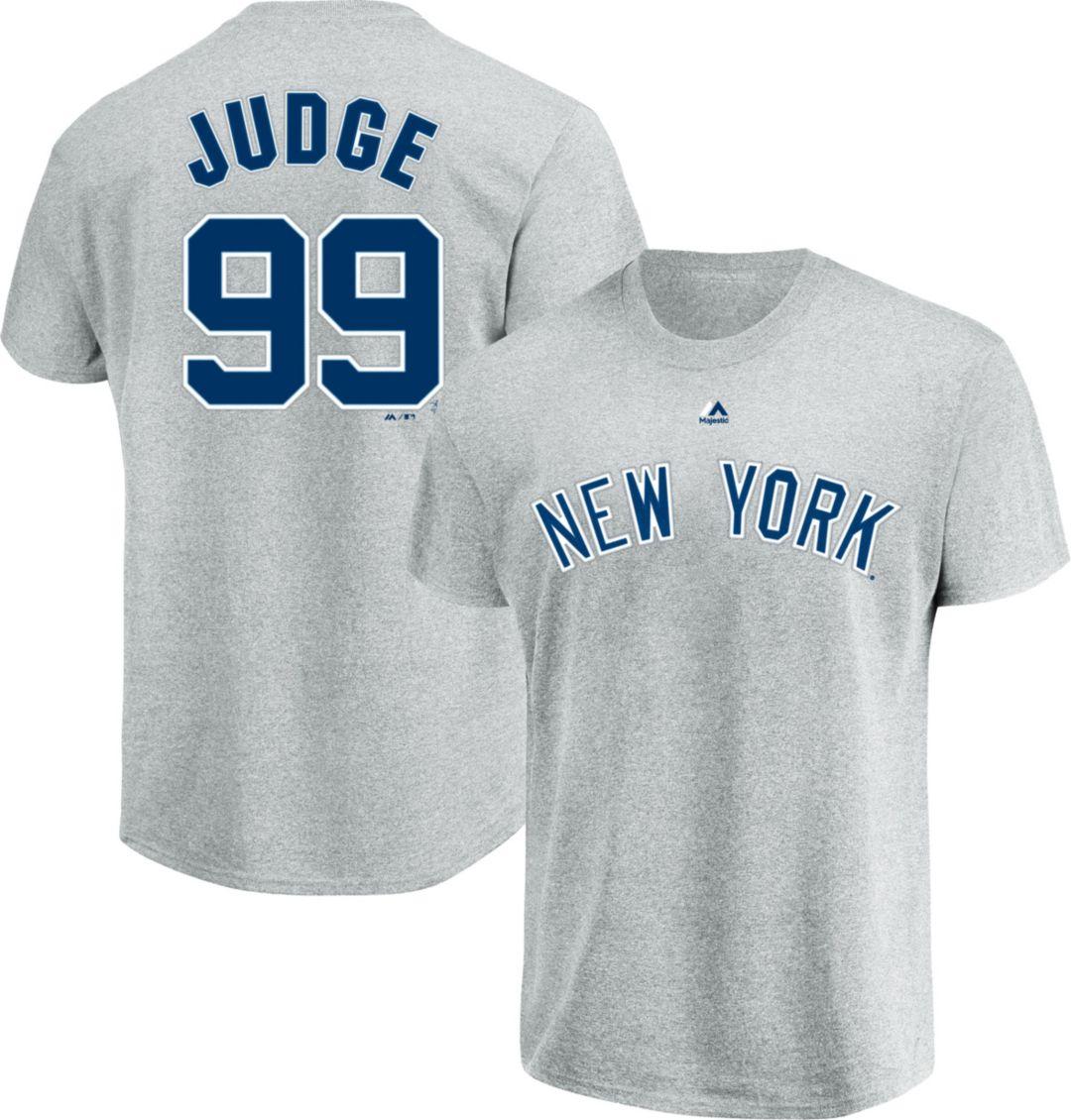 online retailer 626fd 39847 Majestic Men's New York Yankees Aaron Judge #99 Grey T-Shirt