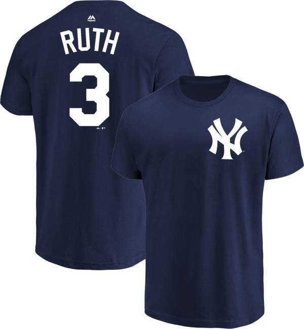 Majestic Men's New York Yankees Babe Ruth #3 Navy Cooperstown T-Shirt product image