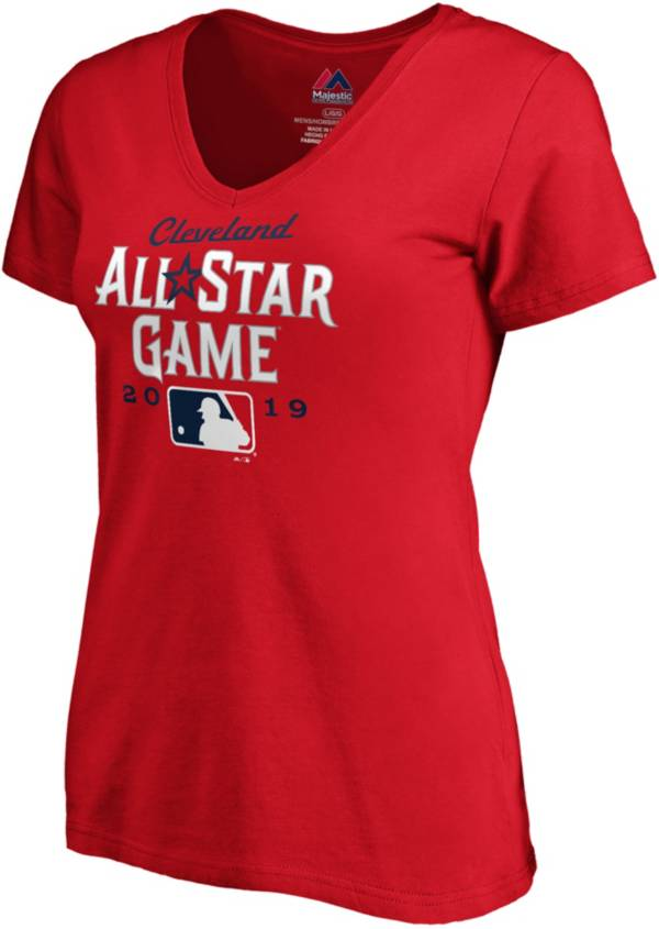 Majestic Women's 2019 MLB All-Star Game Red V-Neck T-Shirt product image