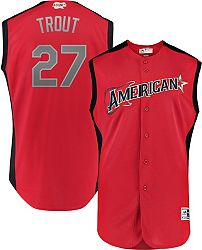 newest d6dd4 eaf16 Majestic Youth 2019 American League Mike Trout #27 All-Star Game Cool Base  Jersey