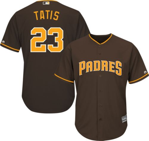 93d2a6dba Majestic Youth Replica San Diego Padres Fernando Tatis Jr.  23 Cool Base  Alternate Brown Jersey. noImageFound. Previous