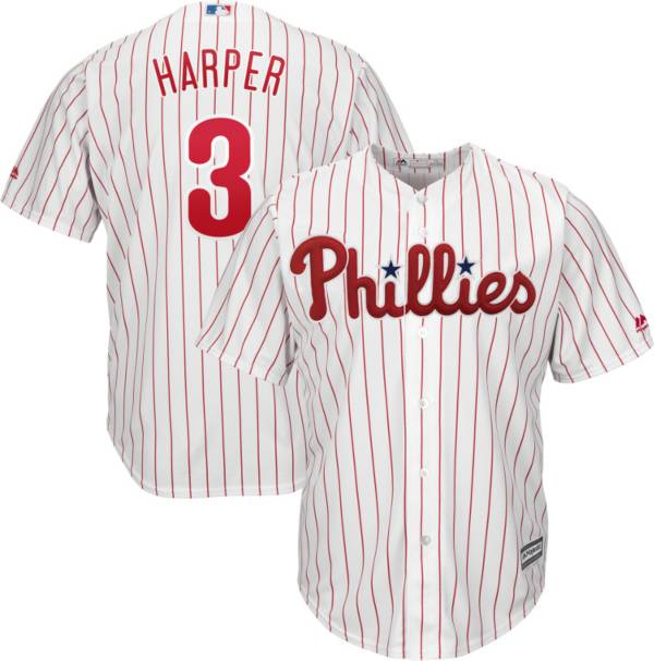 Majestic Youth Replica Philadelphia Phillies Bryce Harper #3 Cool Base Home White Jersey product image