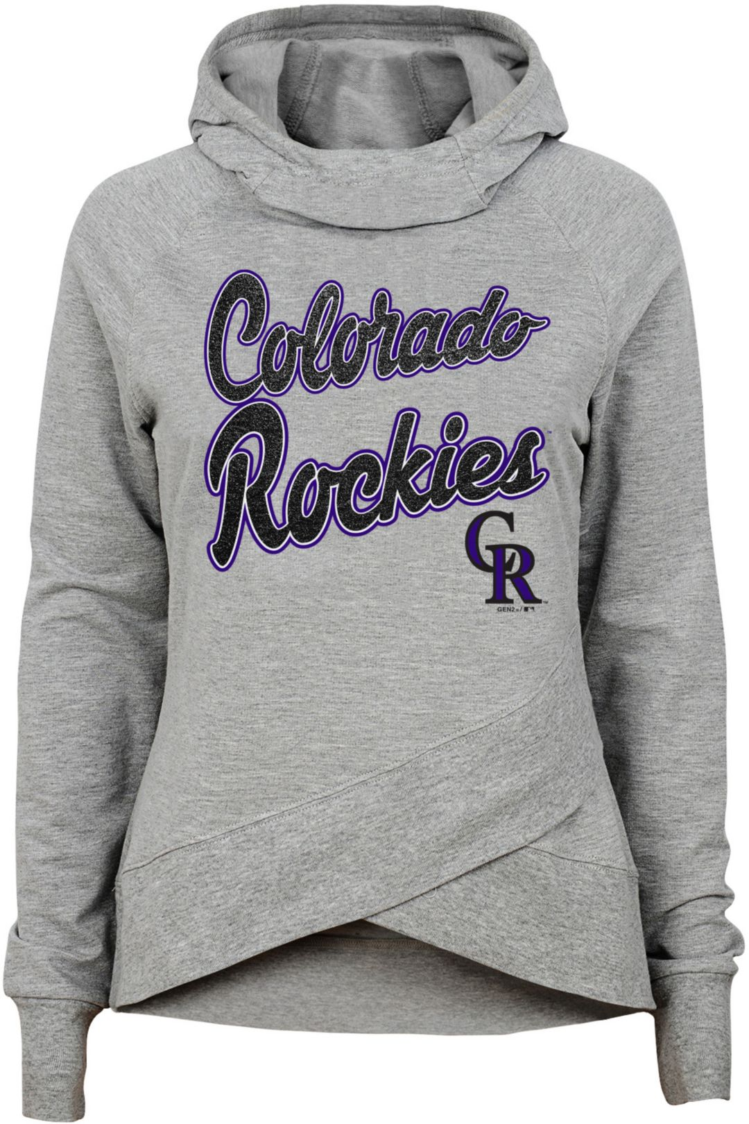 info for ad379 5da8c Gen2 Youth Girls' Colorado Rockies Funnel Neck Pullover Hoodie
