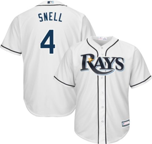 quality design 30d11 4f634 Youth Replica Tampa Bay Rays Blake Snell #4 Home White Jersey
