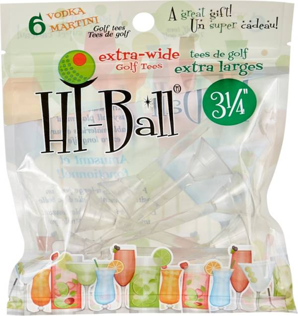 """Hi-Ball 3.25"""" Clear Extra-Wide Golf Tees - 6-Pack product image"""