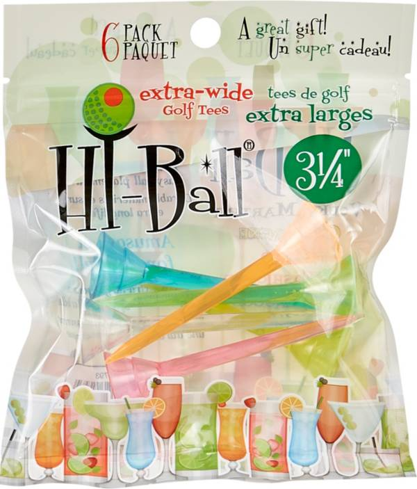 """Hi-Ball 3.25"""" Mixed Extra-Wide Golf Tees - 6-Pack product image"""