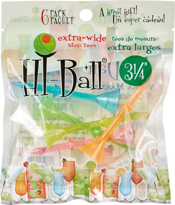 """Hi-Ball 3.25"""" Mixed Extra-Wide Step Golf Tees - 6-Pack product image"""