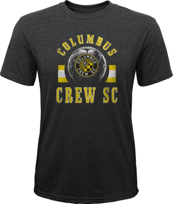 MLS Youth Columbus Crew Retro Black Heathered Tri-Blend T-Shirt product image