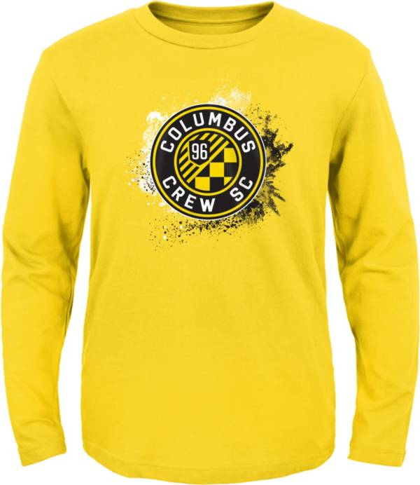 MLS Youth Columbus Crew Splashin' Yellow Long Sleeve Shirt product image