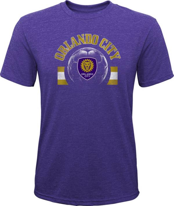 MLS Youth Orlando City Retro Purple Heathered Tri-Blend T-Shirt product image