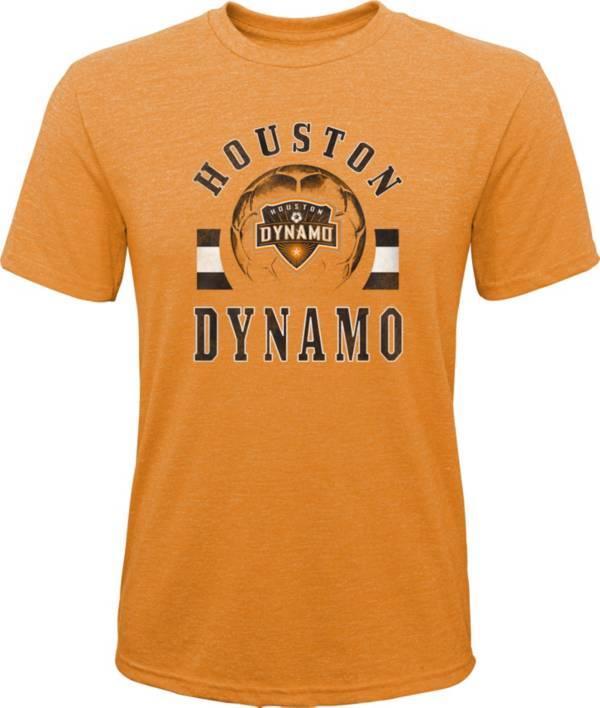 MLS Youth Houston Dynamo Retro Orange Heathered Tri-Blend T-Shirt product image