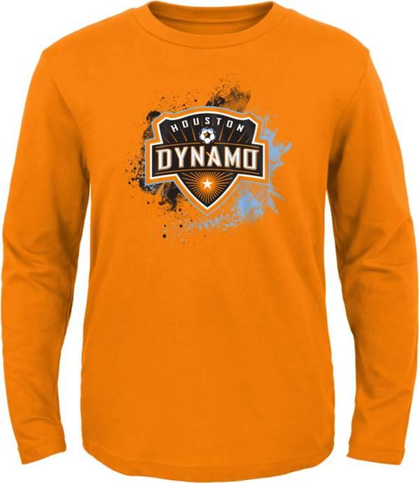 MLS Youth Houston Dynamo Splashin' Orange Long Sleeve Shirt product image