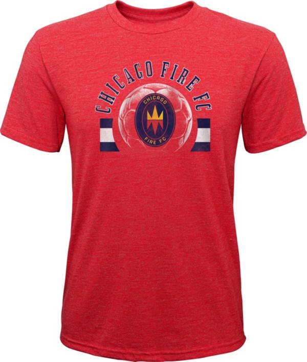MLS Youth Chicago Fire Retro Red Heathered Tri-Blend T-Shirt product image