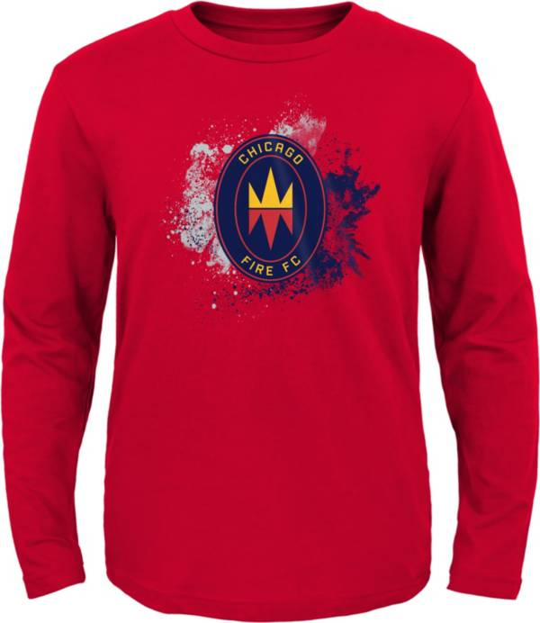 MLS Youth Chicago Fire Splashin' Red Long Sleeve Shirt product image