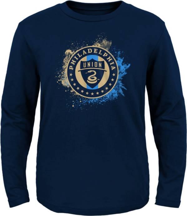 MLS Youth Philadelphia Union Splashin' Navy Long Sleeve Shirt product image