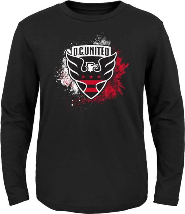 MLS Youth D.C. United Splashin' Black Long Sleeve Shirt product image