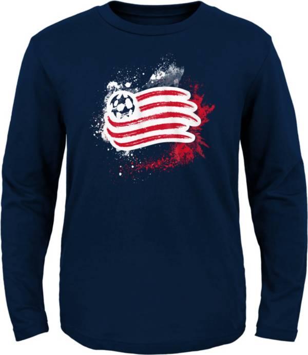 MLS Youth New England Revolution Splashin' Navy Long Sleeve Shirt product image