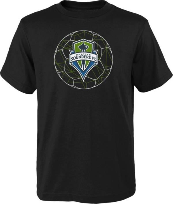 MLS Youth Seattle Sounders Quartz Black T-Shirt product image