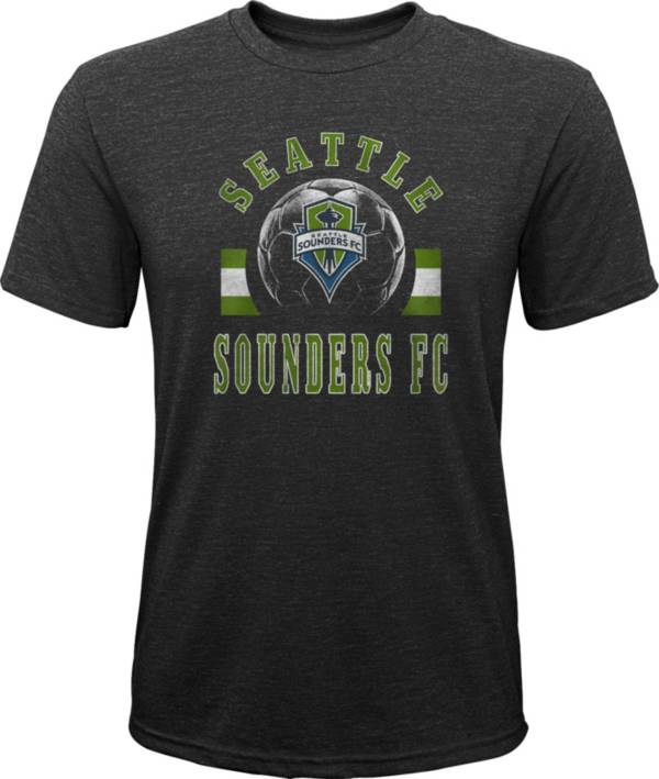 MLS Youth Seattle Sounders Retro Black Heathered Tri-Blend T-Shirt product image