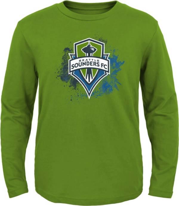 MLS Youth Seattle Sounders Splashin' Green Long Sleeve Shirt product image