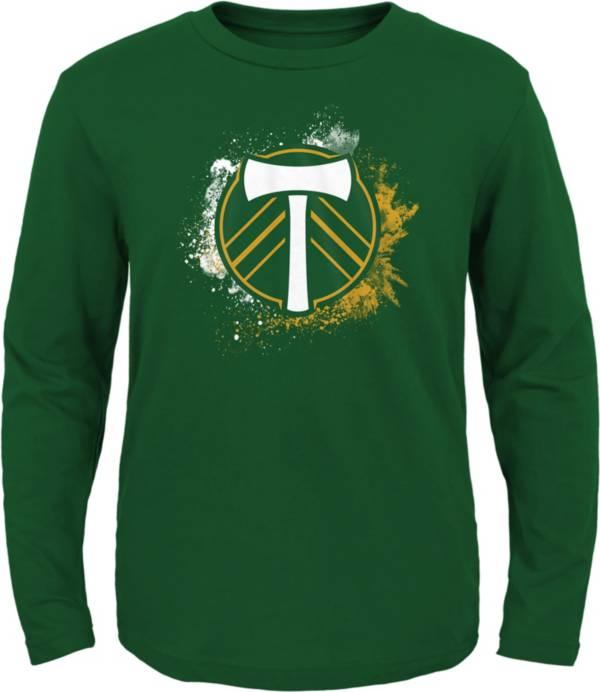 MLS Youth Portland Timbers Splashin' Green Long Sleeve Shirt product image