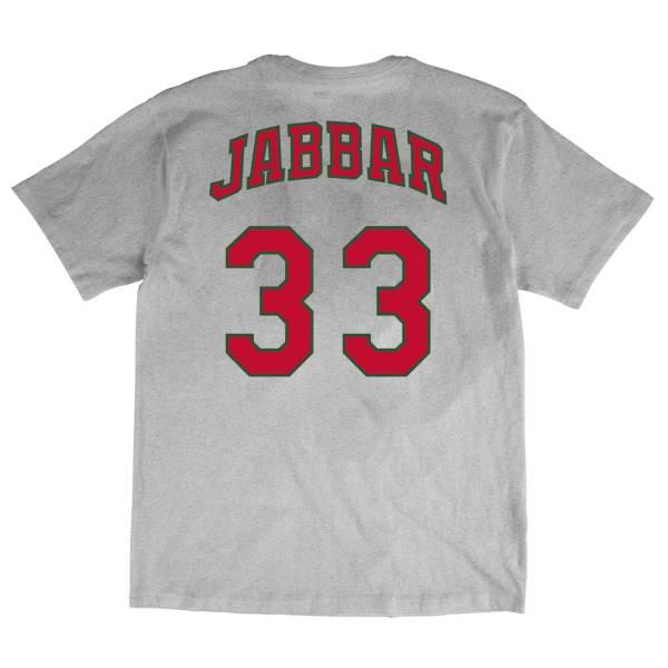 Mitchell & Ness Men's Milwaukee Bucks Kareem Abdul-Jabbar Gray T-Shirt product image