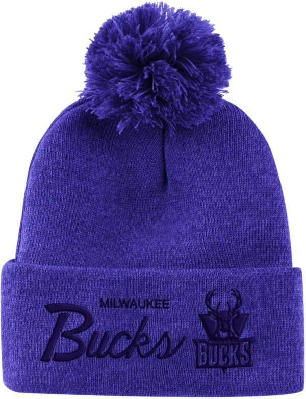 Mitchell & Ness Men's Milwaukee Bucks Pom Cuffed Knit Beanie product image