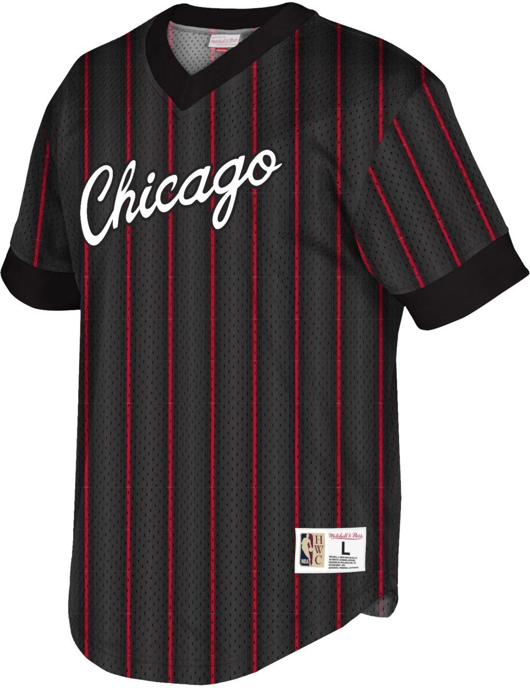 5ee17d7d Mitchell & Ness Men's Chicago Bulls Mesh V-Neck Shirt. noImageFound.  Previous