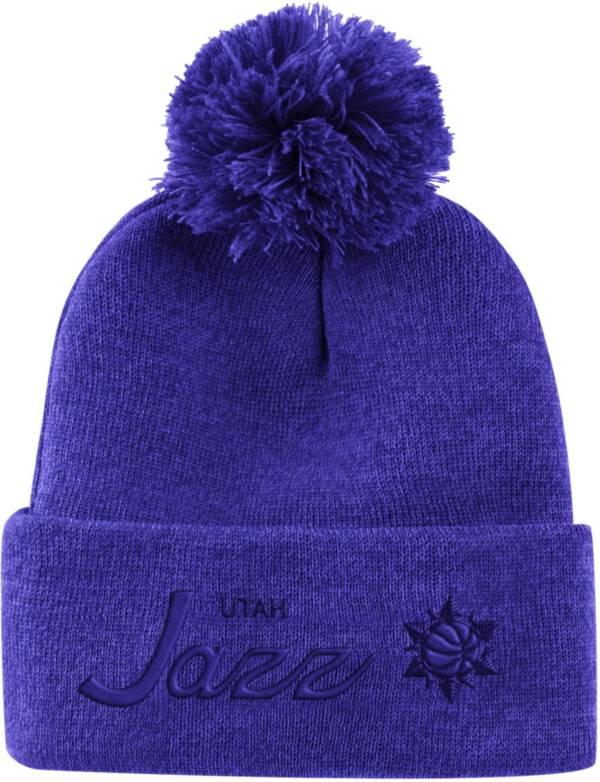 Mitchell & Ness Men's Utah Jazz Pom Cuffed Knit Beanie product image