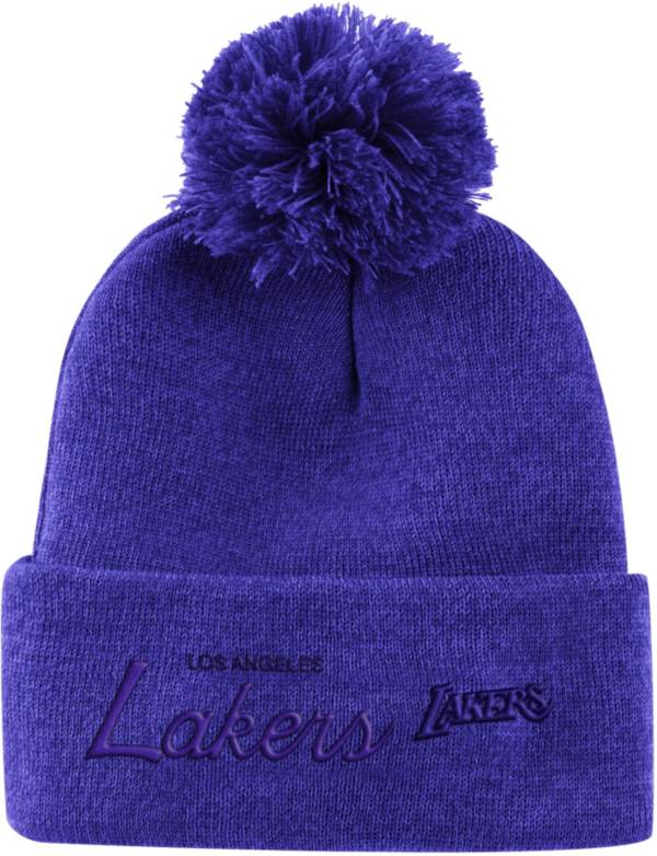 Mitchell & Ness Men's Los Angeles Lakers Pom Cuffed Knit Beanie product image