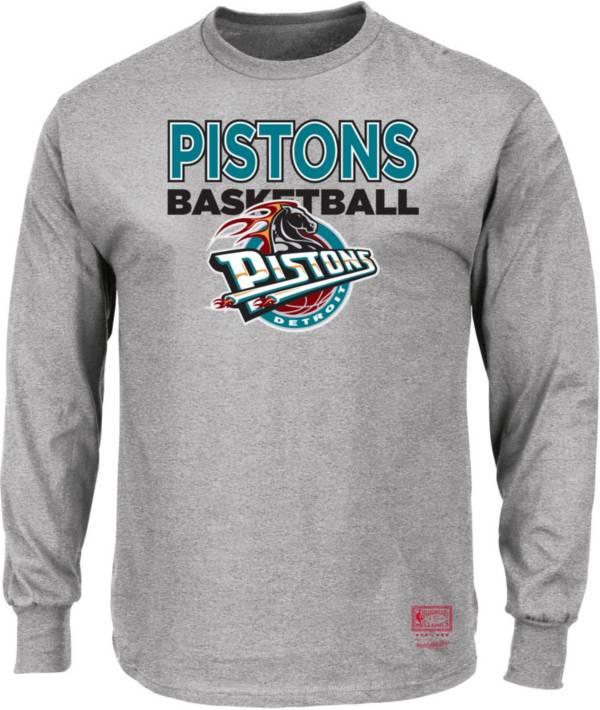 Mitchell & Ness Men's Detroit Pistons Long Sleeve Logo T-Shirt product image