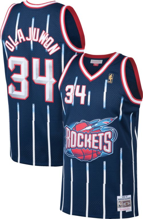 cd16fbb82316 ... Men s Houston Rockets Hakeem Olajuwon  34 Swingman Jersey.  noImageFound. Previous