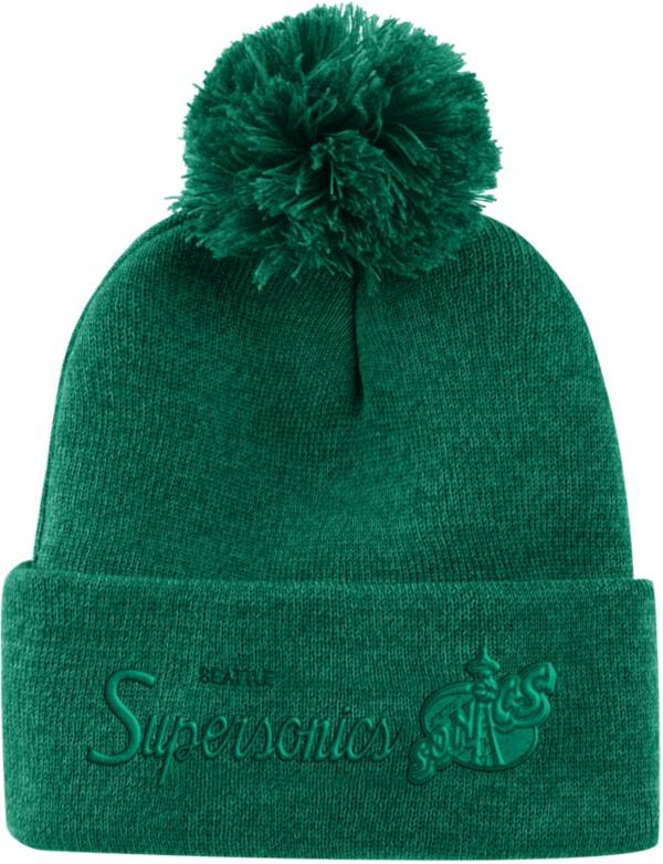Mitchell & Ness Men's Seattle SuperSonics Pom Cuffed Knit Beanie product image