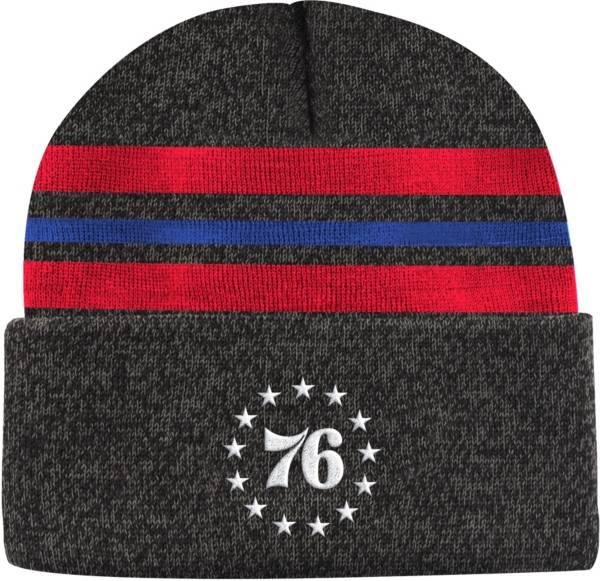 Mitchell & Ness Men's Philadelphia 76ers Grey Cuffed Knit Beanie product image