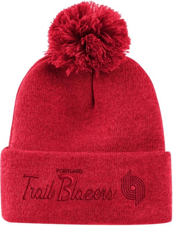 Mitchell & Ness Men's Portland Trail Blazers Pom Cuffed Knit Beanie product image