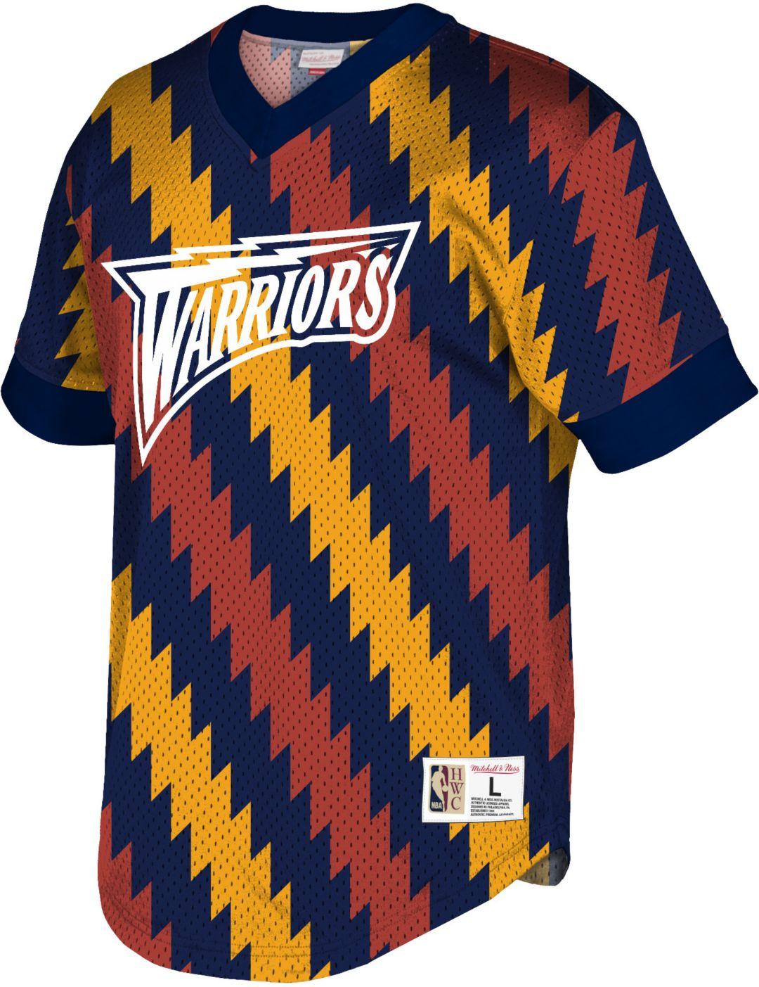 5d512f9e Mitchell & Ness Men's Golden State Warriors Mesh V-Neck Shirt.  noImageFound. Previous