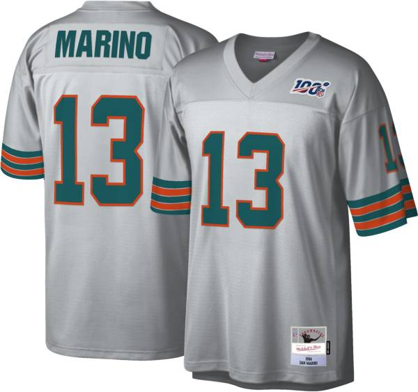 Mitchell & Ness Men's 1984 Platinum Jersey Miami Dolphins Dan Marino #13 product image