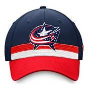 NHL Men's Columbus Blue Jackets Authentic Pro Draft Navy Flex Hat product image