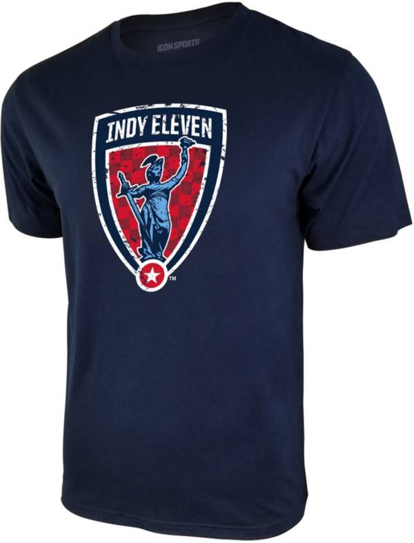 Icon Sports Group Men's Indy Eleven Logo Blue T-Shirt product image
