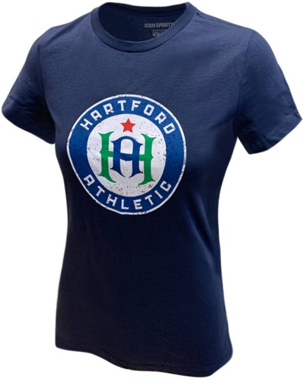 Icon Sports Group Women's Hartford Athletic Logo Navy T-Shirt product image