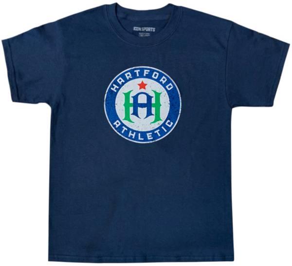 Icon Sports Group Youth Hartford Athletic Logo Navy T-Shirt product image
